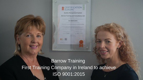 Barrow Training First training company with ISO 9001:2015